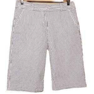 J. Crew City Fit Seersucker Bermuda Shorts (Sz 6)
